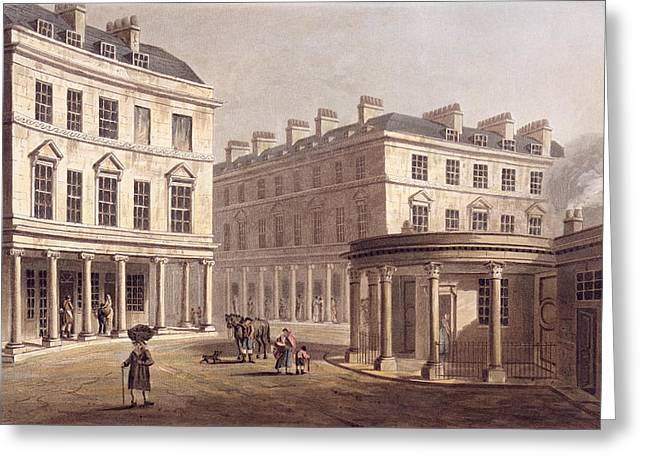 View Of Cross Bath, Bath Street Greeting Card