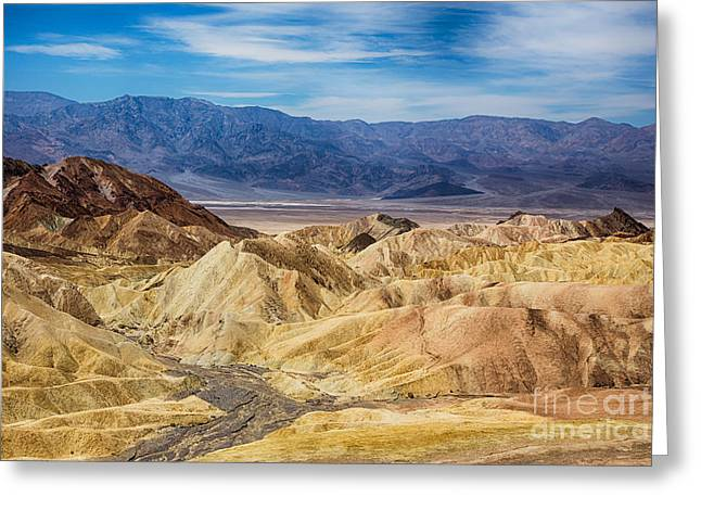 View Of Death Valley From Zabriskie Point Greeting Card
