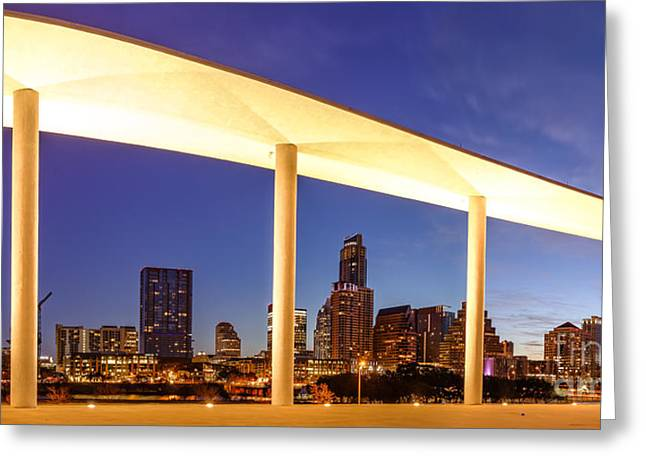 View Of Downtown Austin Skyline From The Long Center - Texas Hill Country - Austin Texas Greeting Card