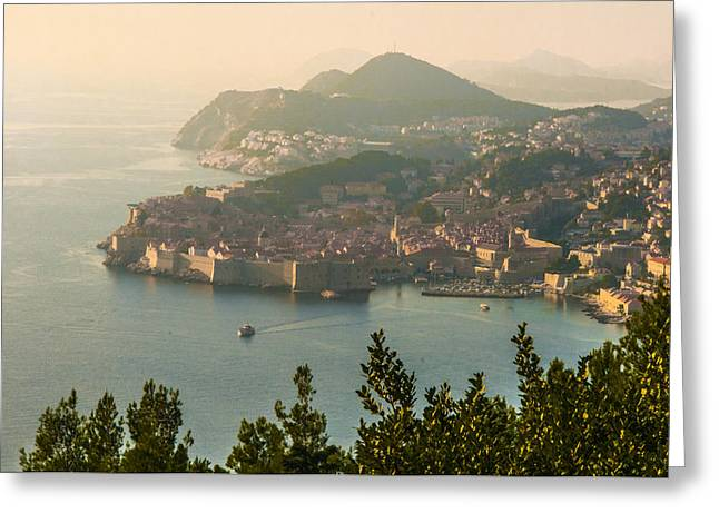 View Of Dubrovnik Peninsula Greeting Card