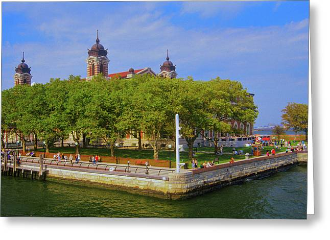 View Of Ellis Island National Park, New Greeting Card