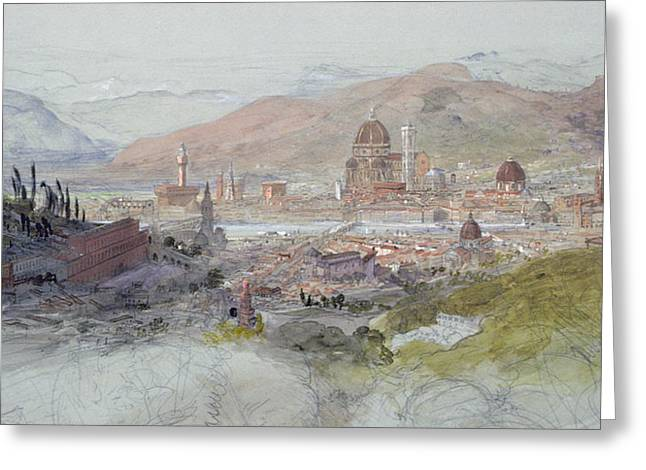 View Of Florence Greeting Card by Samuel Palmer