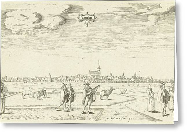 View Of Franeker 1598, Pieter Bast Greeting Card