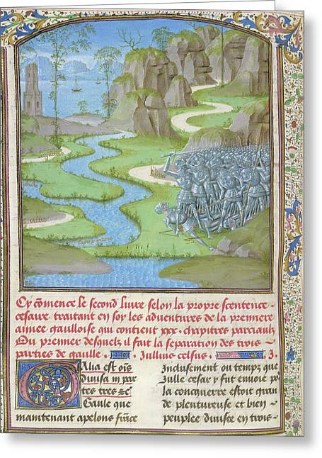 View Of Gaul Greeting Card by British Library