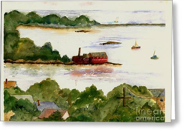 View Of Gloucester Harbor Greeting Card