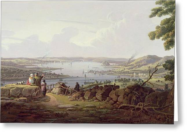 View Of Greenock, Scotland Greeting Card by Robert Salmon