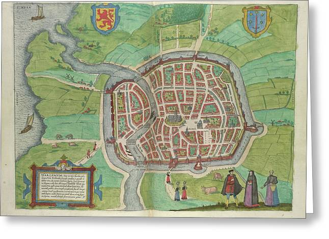 View Of Haarlem Greeting Card by British Library