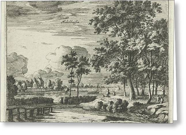 View Of Hedikhuizen, The Netherlands, Roelant Roghman Greeting Card