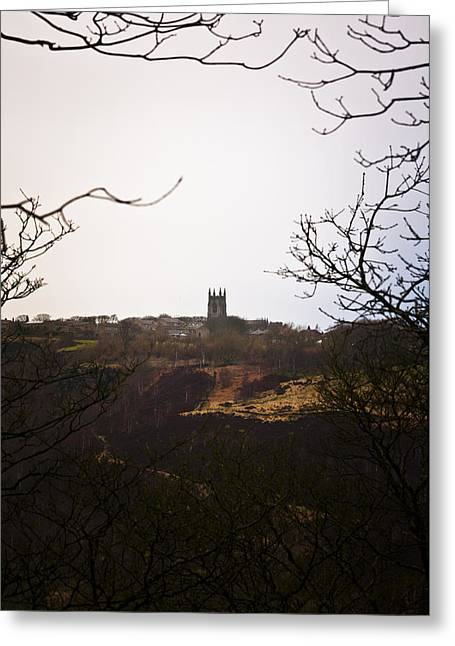 View Of Heptonstall Church Greeting Card