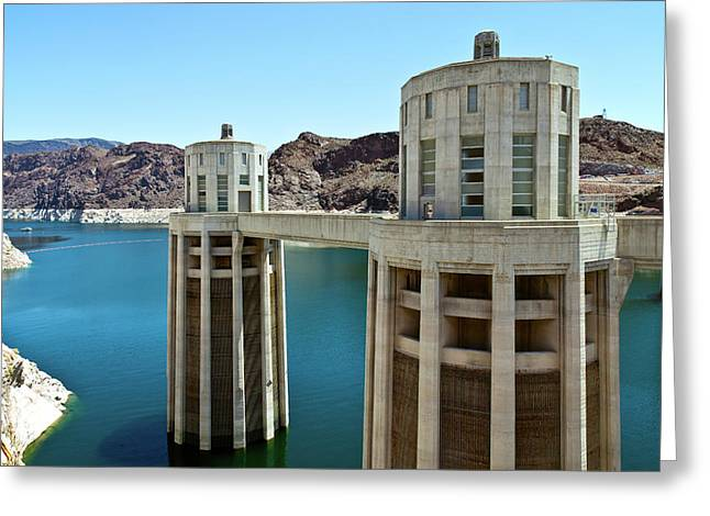 View Of Hoover Dam, Black Canyon Greeting Card by Panoramic Images