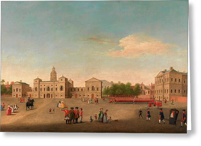 View Of Horse Guards And Whitehall, London  Unknown Artist Greeting Card by Litz Collection