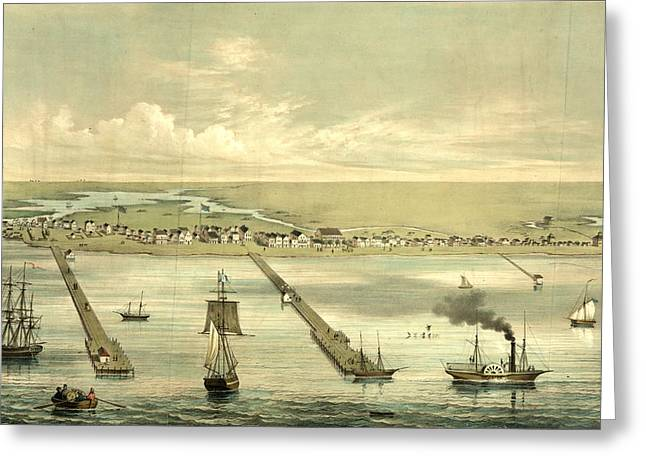 View Of Indianola Taken From The Bay, On The Royal Yard Greeting Card