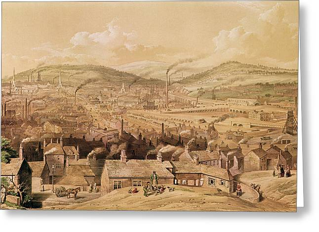 View Of Industrial Sheffield Greeting Card