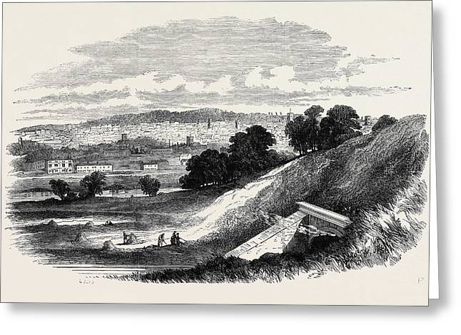 View Of Ipswich, From Store Hill Greeting Card by English School