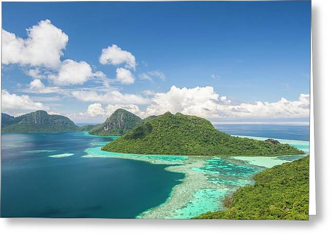 View Of Islands And Reef Greeting Card by Scubazoo