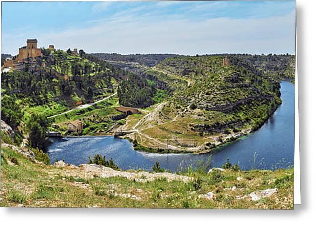 View Of Jucar River Crossing Alarcon Greeting Card