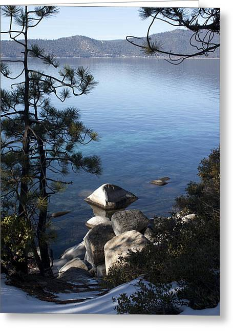 View Of Lake Tahoe Greeting Card by Ivete Basso Photography