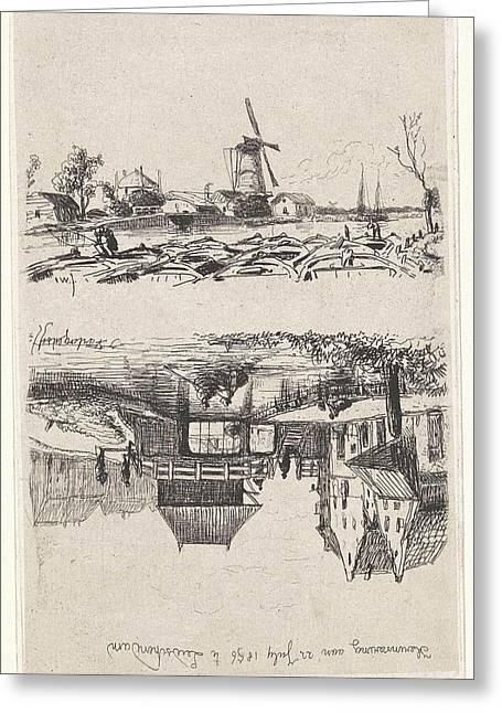View Of Leidschendam, The Netherlands, Jan Weissenbruch Greeting Card