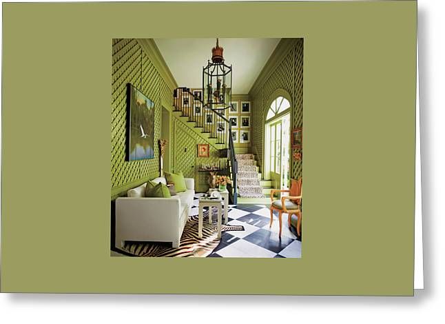 View Of Living Room Greeting Card by Eric Piasecki
