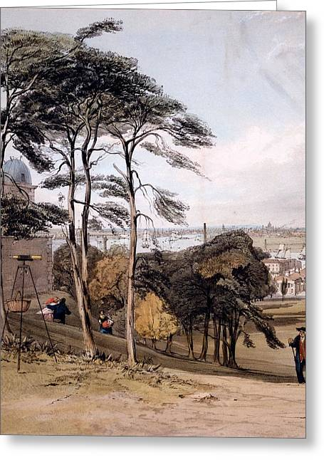 View Of London From Greenwich Park, 1842 Greeting Card by Thomas Shotter Boys