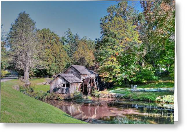 View Of Mabrys Mill Virginia Greeting Card by Kathleen Struckle