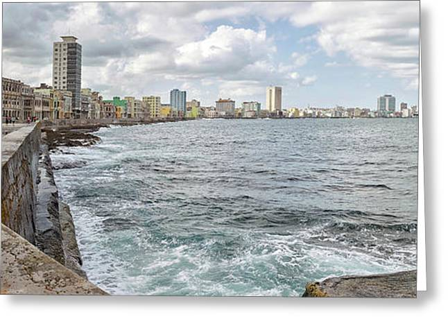 View Of Malecon From San Salvador De La Greeting Card