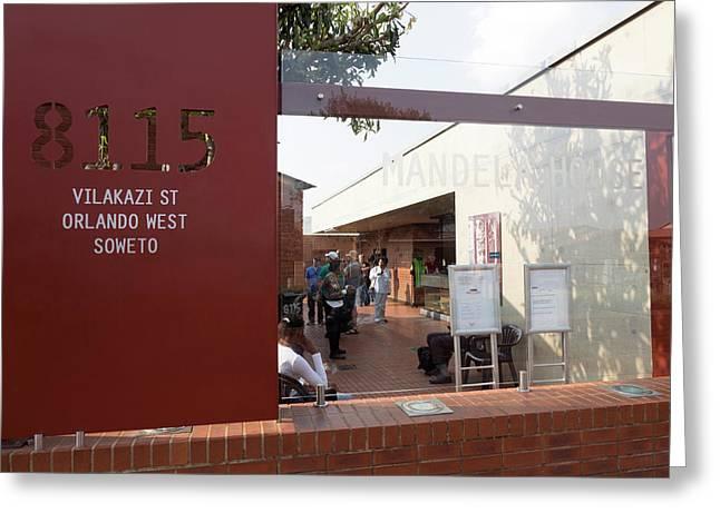 View Of Mandela House, Soweto Greeting Card