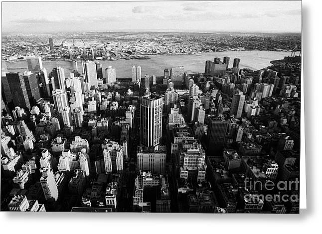 View Of Manhattan East River Looking Towards Queens New York City Usa Greeting Card by Joe Fox