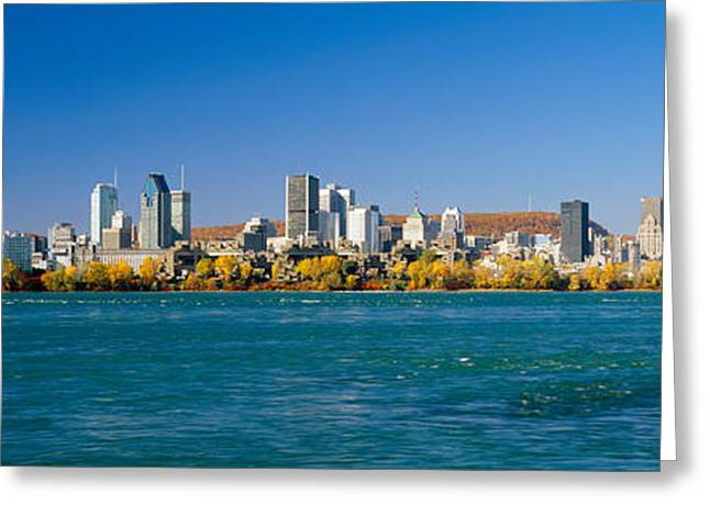 View Of Montreal Skyline And The Saint Greeting Card