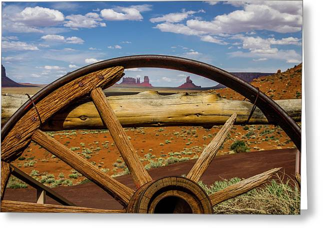 View Of Monument Valley From Venerable Greeting Card