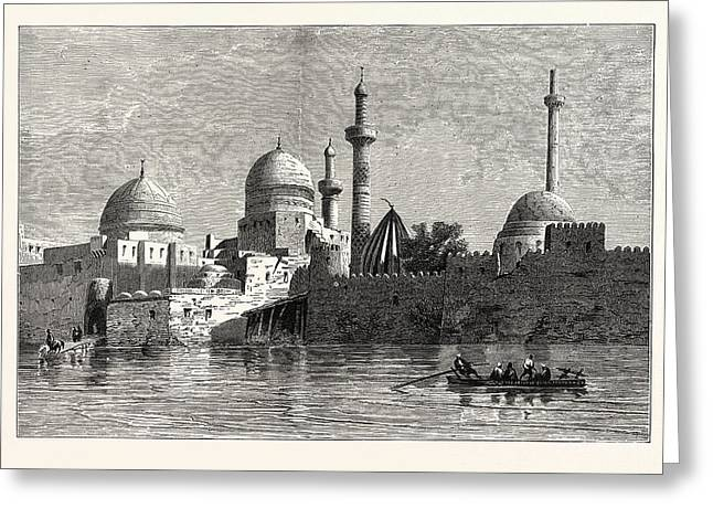 View Of Mosul From The Tigris. Baghdad Greeting Card