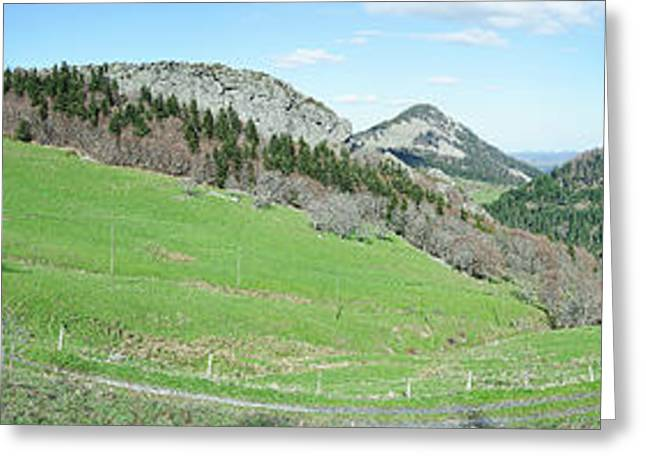 View Of Mountain Road, Mont Gerbier De Greeting Card by Panoramic Images