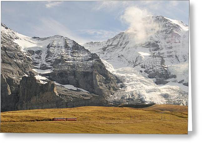 View Of Mt Eiger And Mt Monch, Kleine Greeting Card by Panoramic Images