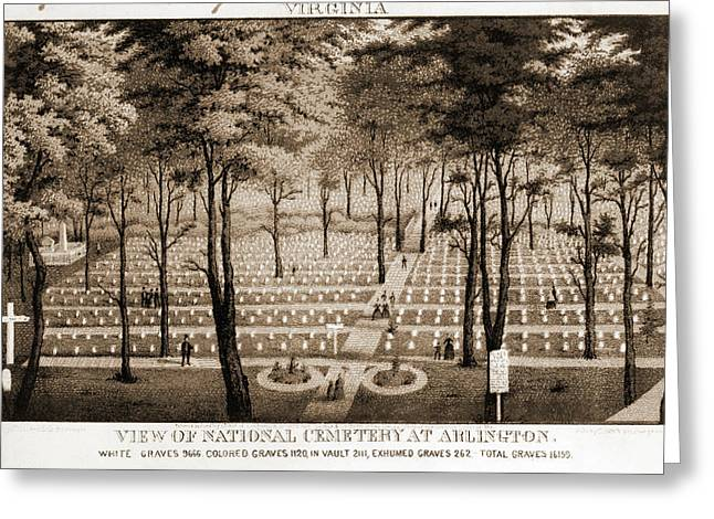 View Of National Cemetery At Arlington C1870 Greeting Card by Litz Collection