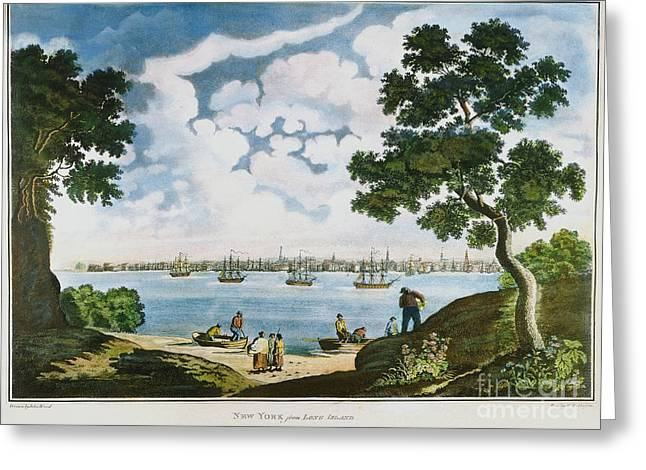 View Of New York 1801 Greeting Card by Granger
