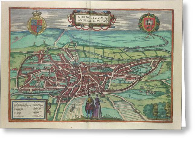 View Of Norwich Greeting Card by British Library