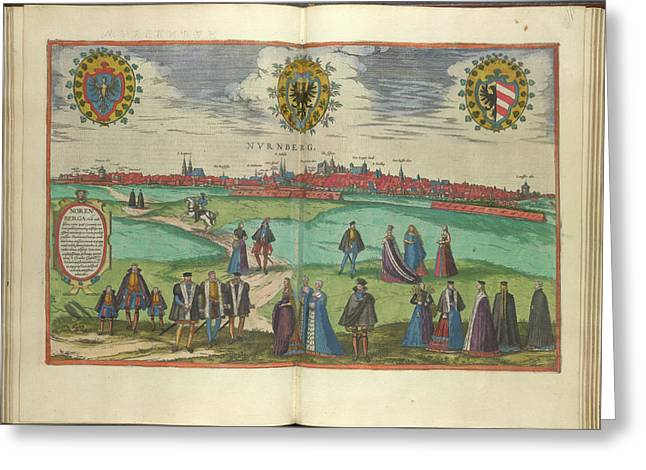 View Of Nuremberg Greeting Card by British Library