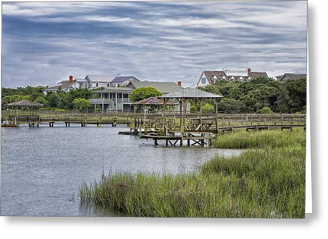 View Of Pawleys From The Creek Greeting Card