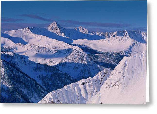 View Of Pfeifferhorn From The Big Greeting Card by Howie Garber