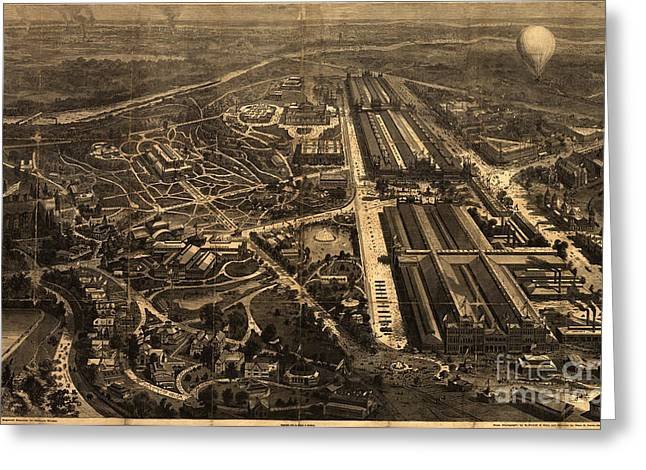 View Of Philadelphia S Centennial Exposition 1876 Greeting Card