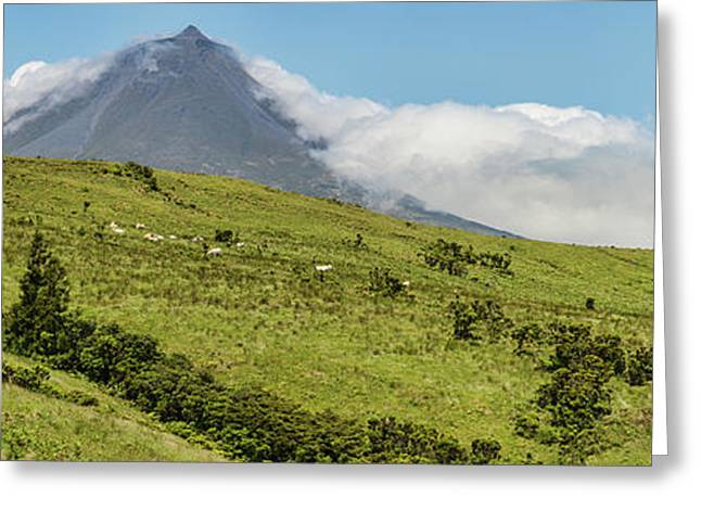 View Of Pico Mountain, Pico Island Greeting Card