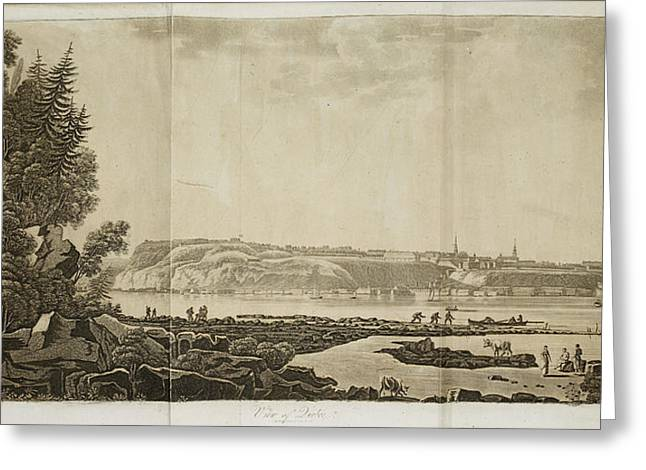 View Of Quebec Greeting Card by British Library