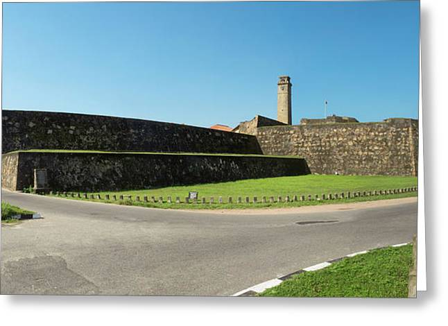 View Of Rampart Around Galle And New Greeting Card