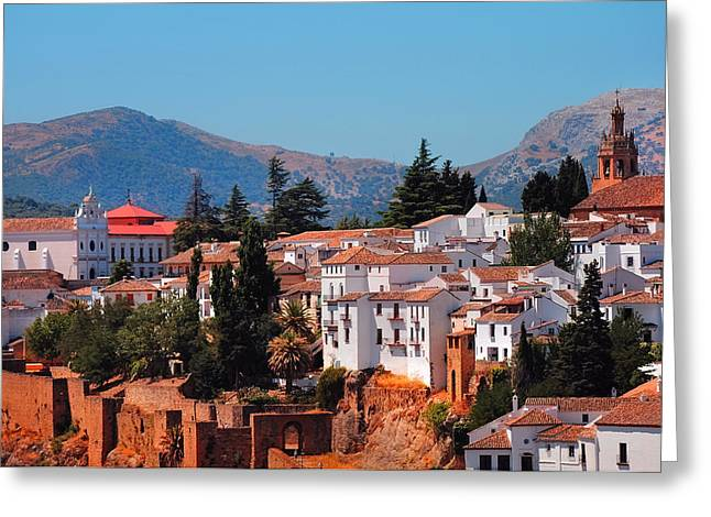 View Of Ronda I. Andalusia. Spain Greeting Card by Jenny Rainbow