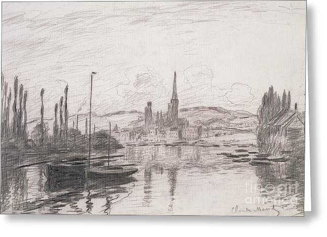 View Of Rouen Greeting Card by Claude Monet