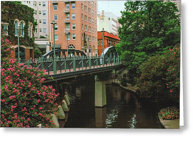 View Of San Antonio River Walk, San Greeting Card by Panoramic Images
