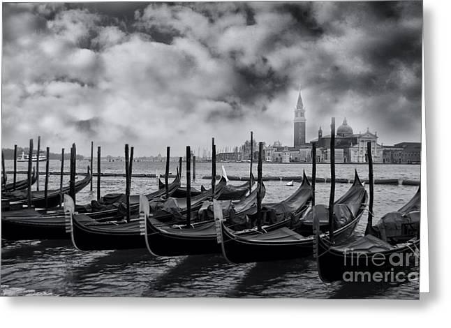 View Of San Giorgio Maggiore Venice Greeting Card by Design Remix