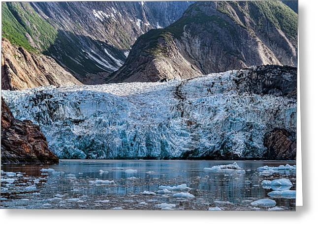 View Of Sawyer Glacier, Southeast Greeting Card