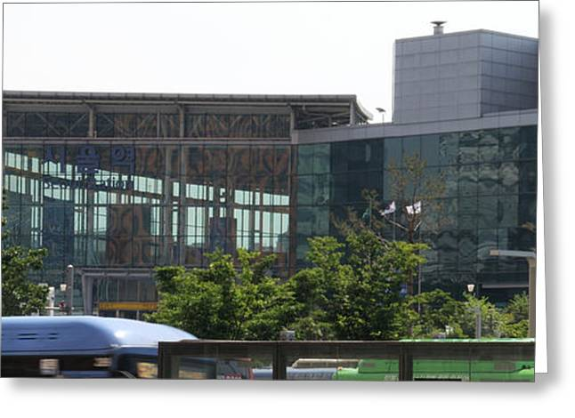 View Of Seoul Station, Namdaemun Greeting Card by Panoramic Images