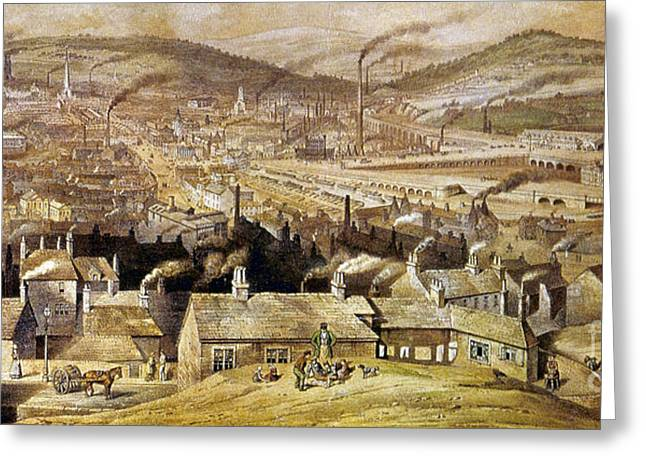 View Of Sheffield England Greeting Card by Granger